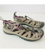 KEEN Newport Gray Purple Hiking Trail Walking Sandals Water Shoes Womens... - $48.46