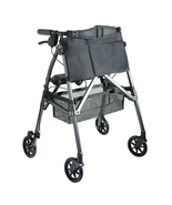 "EZ Fold-N-Go Rollator, Lightweight 4 Wheeled Walker, Adjustable Height to 36""    - $249.95"