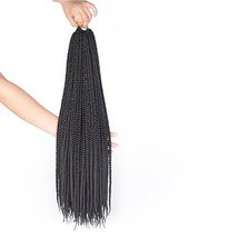 7Packs 22Inch Box Braids Crochet Braids Mambo Twist Braiding Hair 22roots Synthe image 3