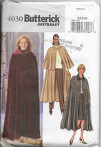Butterick 4030, Cape Sew Pattern, Lower Calf Length, Long Cape, Front Bu... - $12.00