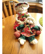 Vintage House of Lloyd Holiday Mop Rabbit Dolls Flossie And Hip (or Hop)... - $48.00