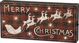 Primitives by Kathy Rustic LED Box Sign, Christmas, Lighted-Merry X-mas - $30.00
