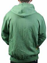 Dunkelvolk Rasta Logo Jamaica Fluorite Green Zip Up Hoodie NWT image 3