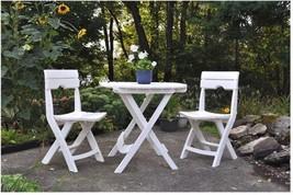 3 Pcs Outdoor Garden Bistro Set Patio Table W/ 2 Chairs Backyard Furnitu... - $143.32