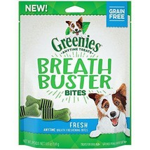 GREENIES BREATH BUSTER Bites Fresh Flavor Treats for Dogs 5.5 Ounces - $8.89