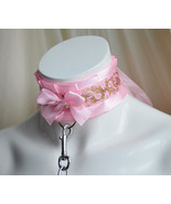 Made to Order - Kitten play collar and leash - Softpink - petplay kitten... - $55.00