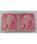 STAMP  2  JEFFERSON   RED  1954    2 CENT  USED  CANCELLED - $417.77