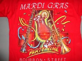 Vintage Screen Stars Madri Gras Bourbon Street Party Time Music T-Shirt Fits S - $18.41