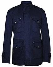 Mens Dean Winchester Supernatural Jensen Ackles Blue Cotton Jacket image 1