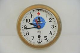 Submarine Clock Vintage Kauahguyckue USSR Russian Maritime Clock Unteste... - £48.52 GBP