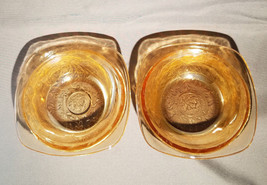 Vtg Jeannette Louisa Iridescent Floragold Set of 2-4 in Square Bowl, cir... - $15.00