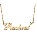 Name Necklace Gold and Silver for Friend Family Member Named Racheal - $13.99+
