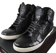 Converse by John Varvatos JV Weapon Mid Sneaker Leather Studded BLACK 13... - $59.96