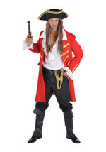 Deluxe Posh PIRATE - Captain Hook / Jack Sparrow - THE FULL LOOK inc Wig... - $137.07