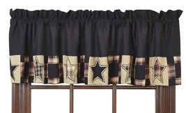 Olivia's Heartland REVERE stars country primitive cabin decor VALANCE cu... - $26.95