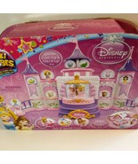 Disney Glitzi Globes Princesses Spin Sparkle Castle Cinderella Ariel Belle - $74.25