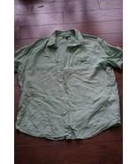 Banana Republic Men XL Linen Standard Fit Shirt Short SleeveGreen *dirt ... - $5.22