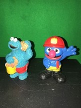 Sesame Street Workshop Grover Fire Fighter PVC Figure - $5.00