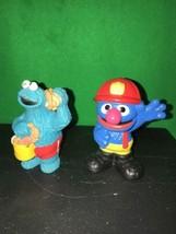 Sesame Street Workshop Grover Fire Fighter PVC Figure - $7.69