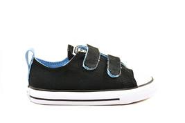 Converse Infant CTAS 2V OX 754287C Sneakers Black/Light Blue Size US 4 - $27.97