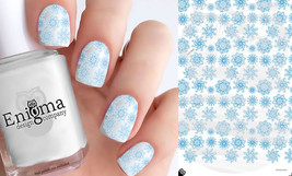 Blue Snowflake Nail Decals (1 Sheet) - $4.95