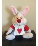 Disneyland Walt Disney World Alice in Wonderland White Rabbit Plush Vintage - $74.97