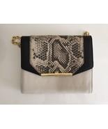 BRAND NEW Womens Vince Camuto Animal Print Black & Bone Leather Handbag ... - $137.21