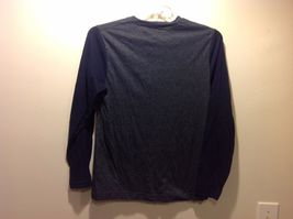 Men's Dark Gray Torso Shirt w Navy Blue Long Sleeves by Old Navy Sz S image 4
