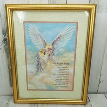 Home Interiors On Angels Wings Prayer Poem Framed Picture Wall Hanging C... - $24.24