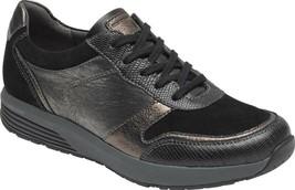 Rockport Trustride Walking LTD Sneaker (Women's Shoes) in Black Leather ... - $122.81