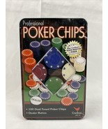 Brand New Cardinal Professional Poker Chips Set (100 Total, Dealer Butto... - $17.81
