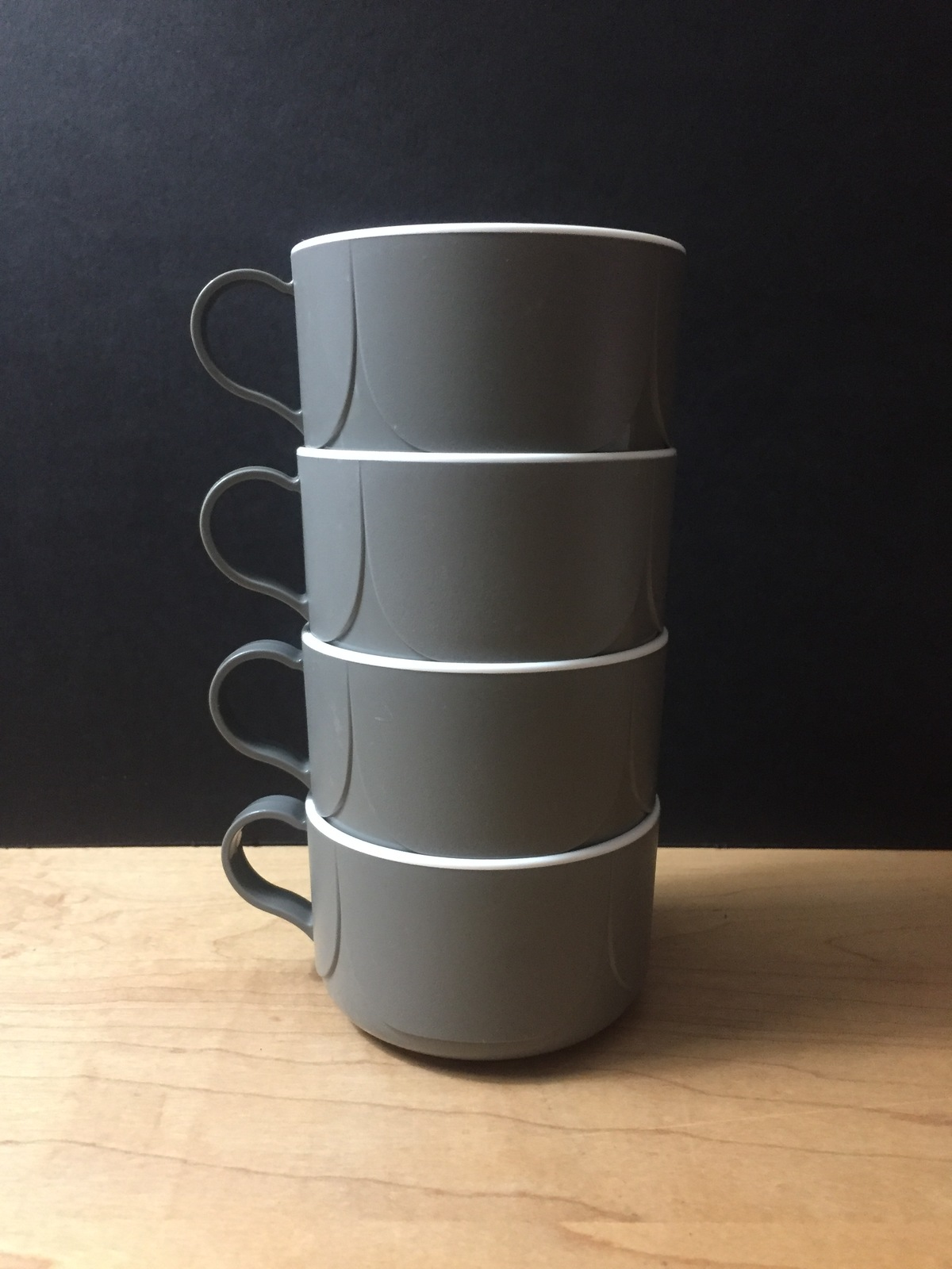 Vintage 70s Northwest Airlines Grey Inflight Coffee Service Cups