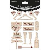 Ruby Rock-It Bella! Wedding Wood Veneer Shapes 13/Pkg- - $9.86