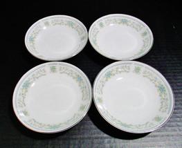 Nitto Fine China of Japan Set of 4 Salad Dessert Bowls Hanover Platinum ... - $30.10