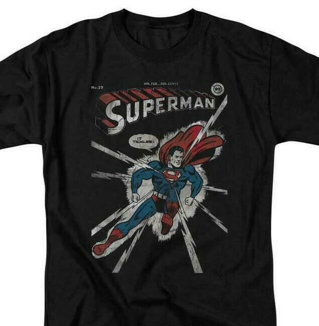 Superman T-shirt DC comics book Batman superhero retro black cotton tee DCO383