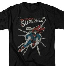 Superman T-shirt DC comics book Batman superhero retro black cotton tee DCO383 image 1