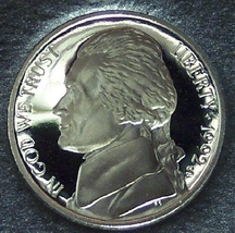 1992-S Proof Jefferson Nickel PF65 DCAM #0238 - $2.79