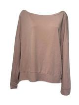Fabletics Rose pink off the shoulder pullover Size M - $24.74