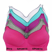Women's Supportive Molded Cup Athleisure Sports Bra (5 piece pack) S315