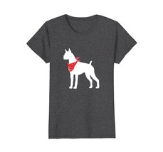 Boxer Wearing Red Bandana Dog Silhouette T-Shirt - $19.99+