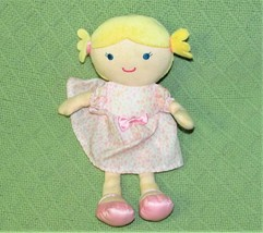 Just One You CARTERS Blonde Plush Baby Doll RATTLE Pink Leopard Dress 9 ... - $23.33