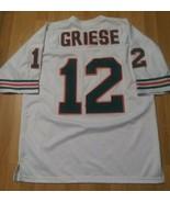 Miami Dolphins Bob Griese #12 Jersey Size 50 Mitchell & Ness Aqua/Orange... - $54.44