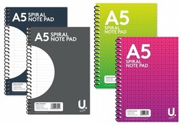A4 Ruled Spiral Pad Notebook Lined Word Note Book Tough Writing School - $3.65