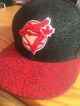 Toronto BLUE JAYS Rare Raptors Red and Black BaseBall Cap 7 3/4 MLBA New... - $21.85