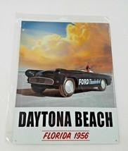 "16"" American power Ford Thunderbird Daytona beach 1956 FL car Ad USA metal sign - $39.50"