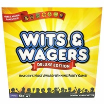 Wits & Wagers Deluxe Edition Party Board Game  Family Fun   New - $32.18