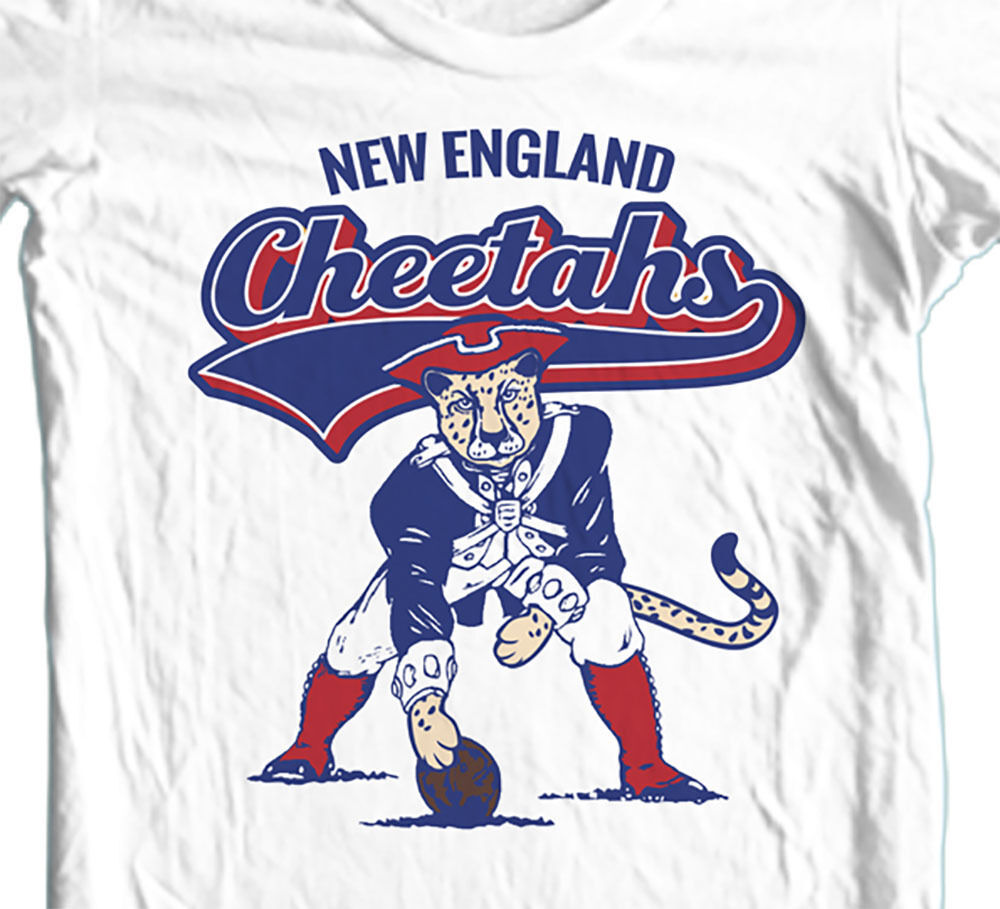 New England Cheetahs Football t-shirt funny sports tees Sizes Small - 5XL