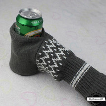 Winter Warm Mittens Unisex Knitted Gloves Beverage Beer Isolation Christ... - $14.99