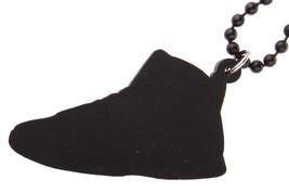 Good Wood NYC Raptor 7 Wooden Sneaker Necklace Red/Blue VII Shoe Kicks NEW image 2
