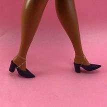 Barbie PURPLE SLIDE PUMPS Ella Fitzgerald Point Toe Heels Shoes for Curv... - $5.00